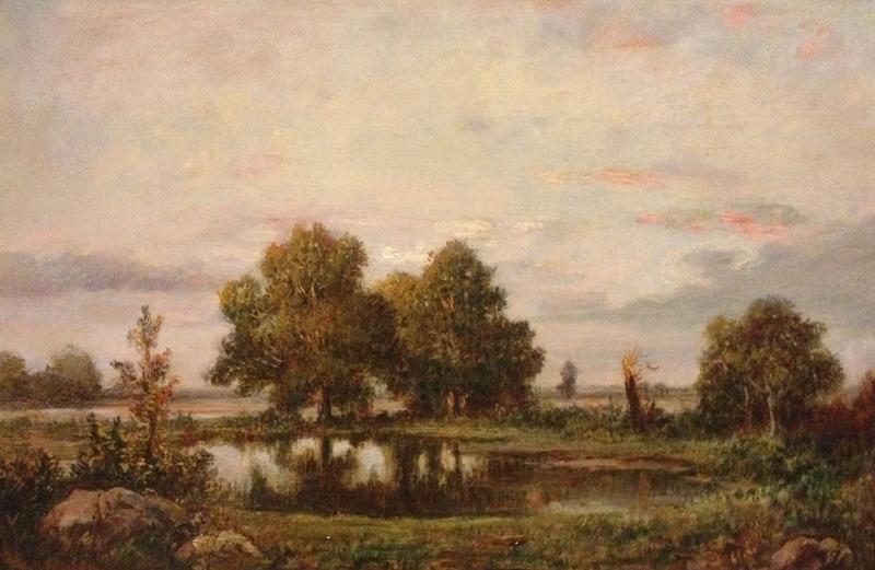 Théodore ROUSSEAU - Painting - Campagne Pres de Fountainebleau