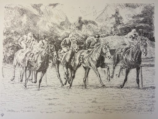 Serge MENDJISKY - Druckgrafik-Multiple - Galop à Longchamp