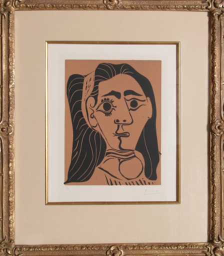 巴勃罗•毕加索 - 版画 - Jacqueline au Bandeau