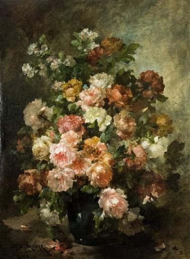 Guy D'ABANCOURT - Gemälde - Flower bouquet