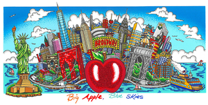 Charles FAZZINO - Druckgrafik-Multiple - Big apple Blue skies