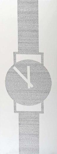 Barbara WRONISZEWSKA-WÓJCIK - Zeichnung Aquarell - Enigma, from the Cycle: Black on White