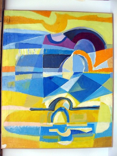 Jacques SIMON - Painting - BORD DE MER