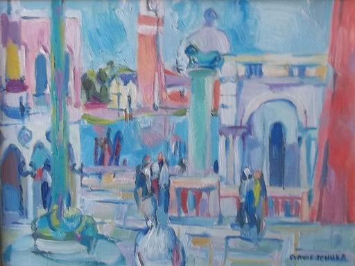 Claude SCHURR - Peinture - la piaztta st marc