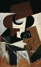 Juan GRIS - Peinture - Compotier et verre