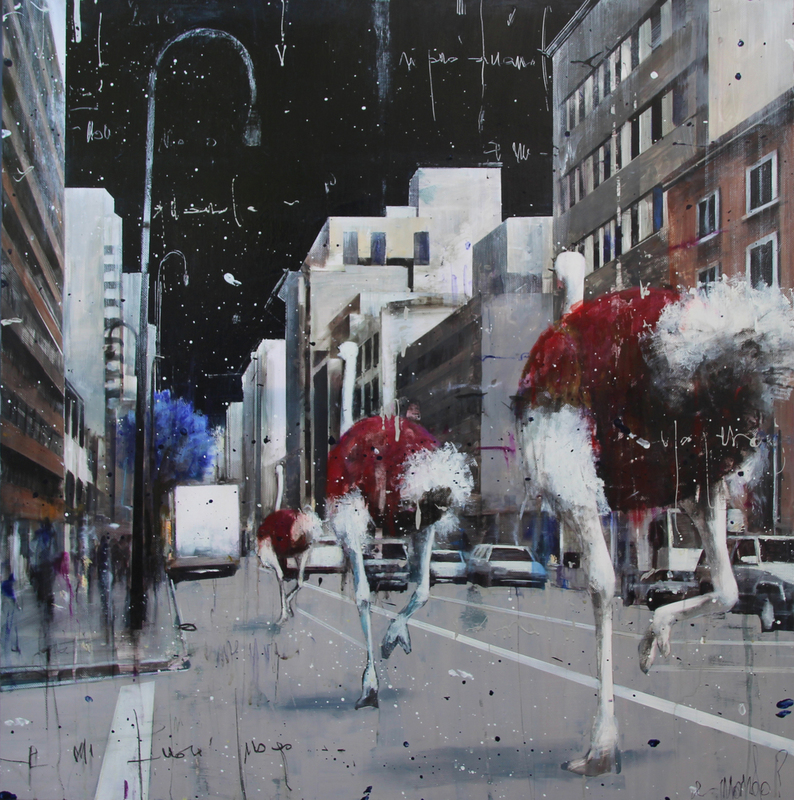 Angelo ACCARDI - Pintura - Marching on the city