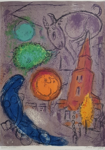 Marc CHAGALL - Druckgrafik-Multiple - Saint- Germain - des - Prés