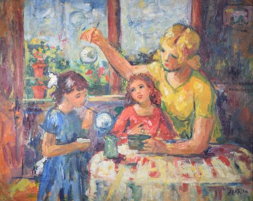 Albert BERTALAN - Gemälde - Untitled (Mom with Girls)