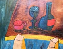 Christian DURIAUD - Pintura - La tasse rose