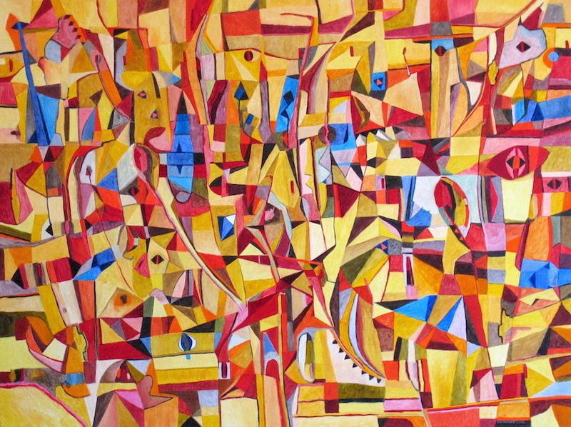 Jérémie IORDANOFF - Pintura - Moutarde
