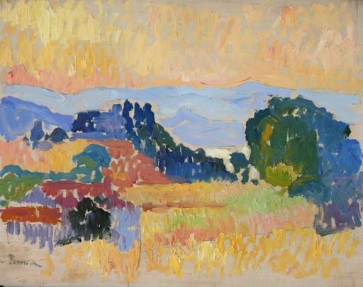Henri PERSON - Pittura - Paysage de Saint-Tropez