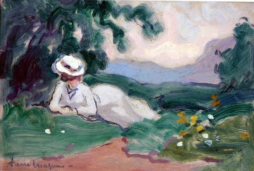 Pierre CHAPUIS - Painting - à la campagne