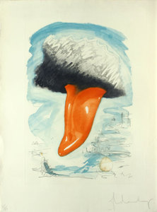 Claes Thure OLDENBURG, Tongue Cloud Over London with Thames Ball