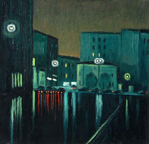 Valeriy NESTEROV - Painting - Orlikov lane. Moscow