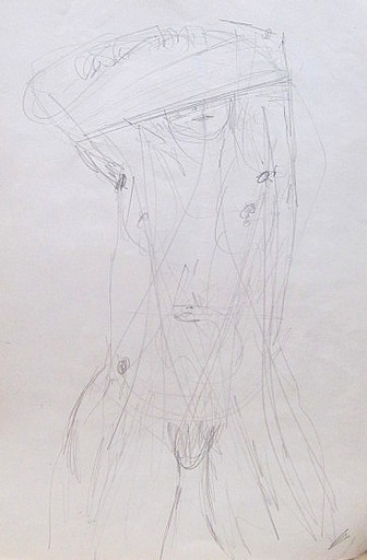 Karl KLUTH - Dibujo Acuarela - Frauenakt