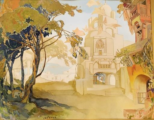 Georges DE FEURE - Drawing-Watercolor - La maison