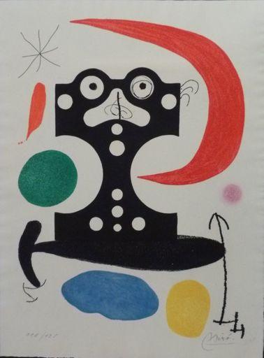 胡安·米罗 - 版画 - Hommage à Marcel Duchamp