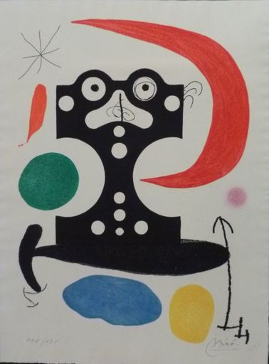 Joan MIRO - Estampe-Multiple - Hommage à Marcel Duchamp