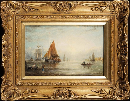 William Adolphus KNELL - 绘画 - Shipping Off The Coast