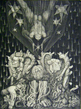 Ernst FUCHS - Print-Multiple - Adam's Destruction and Promise