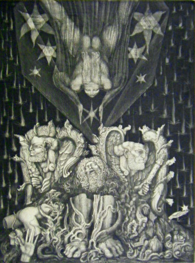 Ernst FUCHS - Estampe-Multiple - Adam's Destruction and Promise