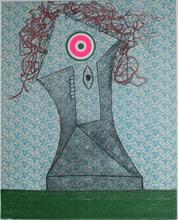 Enrico BAJ - Print-Multiple - Femme dans un fauteuil