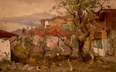 Julijs VILUMAINIS - Painting - Landscape of Crimea