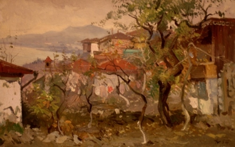 Julijs VILUMAINIS - Peinture - Landscape of Crimea