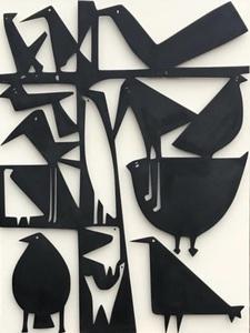 Antonine DE SAINT-PIERRE - Sculpture-Volume - Birdies III- Hommage à Capron