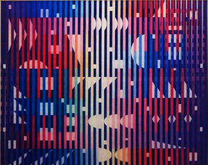 Yaacov AGAM, SPARKLING NIGHT RAINBOW