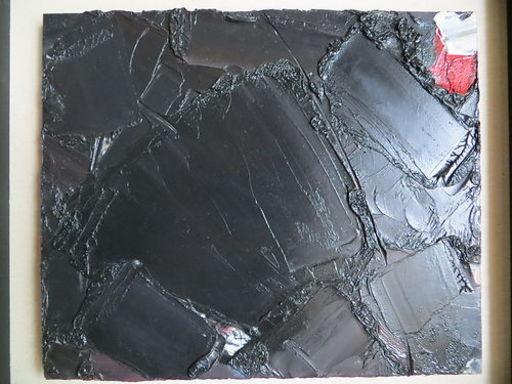 Piero RUGGERI - Painting - composizione nera e rossa