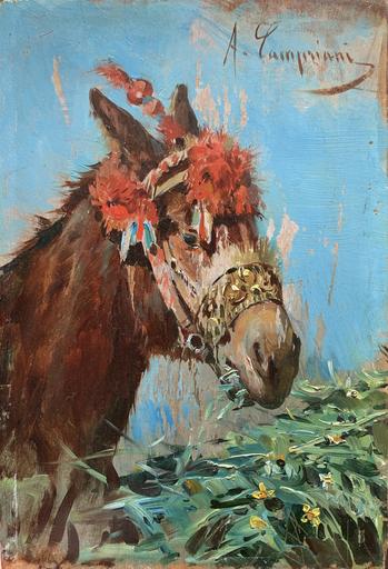 Alceste CAMPRIANI - Pintura - Somarello