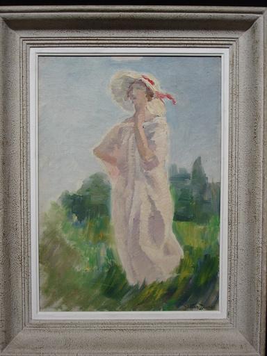 Gaëtan DUMAS - Pittura - Femme au chapeau