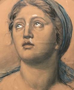 Vincenzo GEMITO - Gemälde - Portrait of a woman, 1914