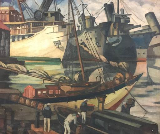 Angèle EGGERMONT - Peinture - Activités au port de Toulon