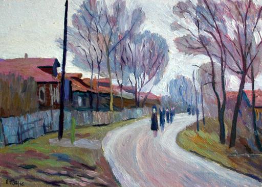 Valeriy NESTEROV - Gemälde - Moscow. Fakelniy Lane
