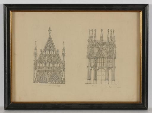 """Georg Christian WILDER - Dibujo Acuarela - """"Studies of Stephansdome/Vienna"""", Drawing"""