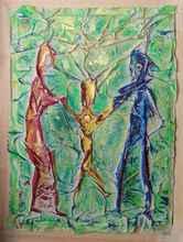Alain MINET - Painting - l'enfant Roi