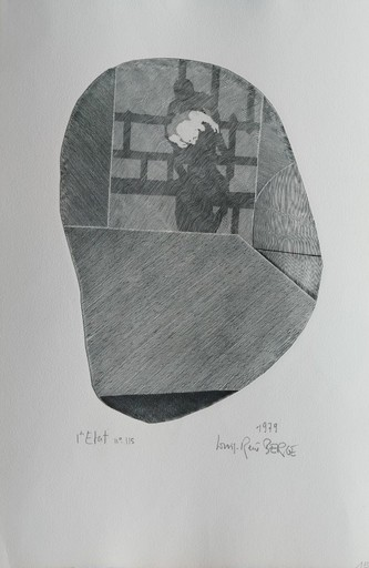 Louis-René BERGE - Stampa-Multiplo - LA HERSE