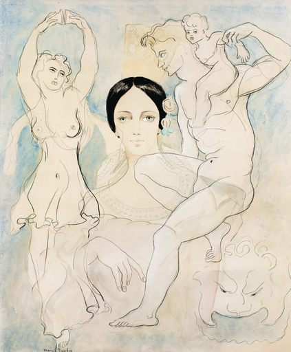 Francis PICABIA - Drawing-Watercolor - Pilar