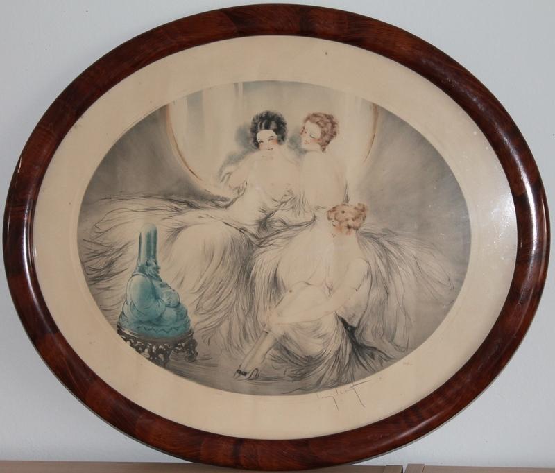 Louis ICART - Grabado - Le boudha bleu ou la vieille laine