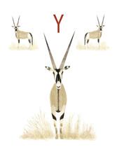 Rocío DEL MORAL - Grabado - Animal Alphabet - The letter Y    (Cat N° 6198)