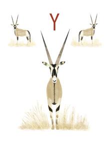 Rocío DEL MORAL - Estampe-Multiple - Animal Alphabet - The letter Y    (Cat N° 6198)