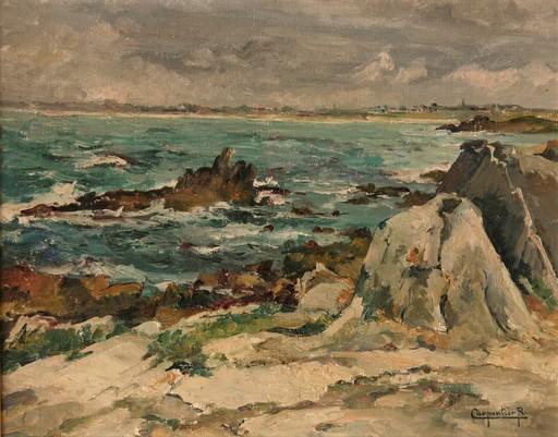 Renée CARPENTIER-WINTZ - Painting - Bords de côte en Bretagne
