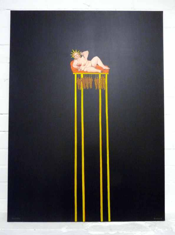 Blalla W. HALLMANN - Painting - Amerika