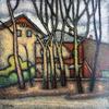 Valeriy NESTEROV - Pittura - Taganka yard. Moscow