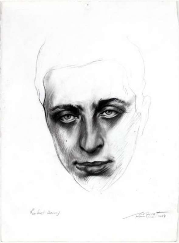 Ernest PIGNON-ERNEST - Disegno Acquarello - Robert Desnos