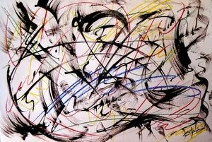 Didier ANGELS - Pintura - Tourbillon de la vie