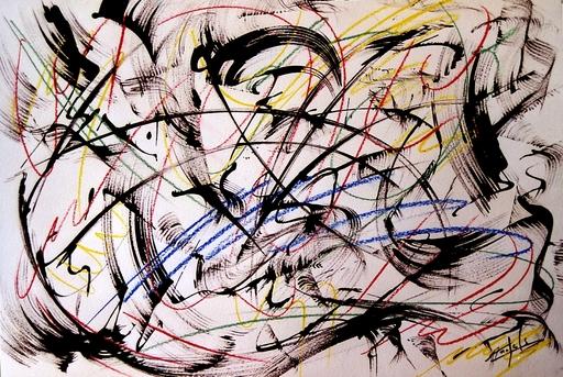 Didier ANGELS - Peinture - Tourbillon de la vie