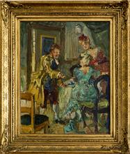 "Ludvig JACOBSEN - Painting - ""Den politiske Kandestöber"" (Der politische Kannengießer)"